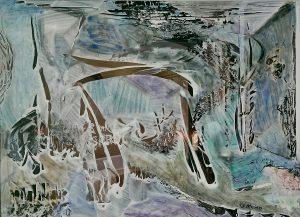 """""""Open my door"""", Acryl über Druck, 21 cm x29 cm, 2010"""