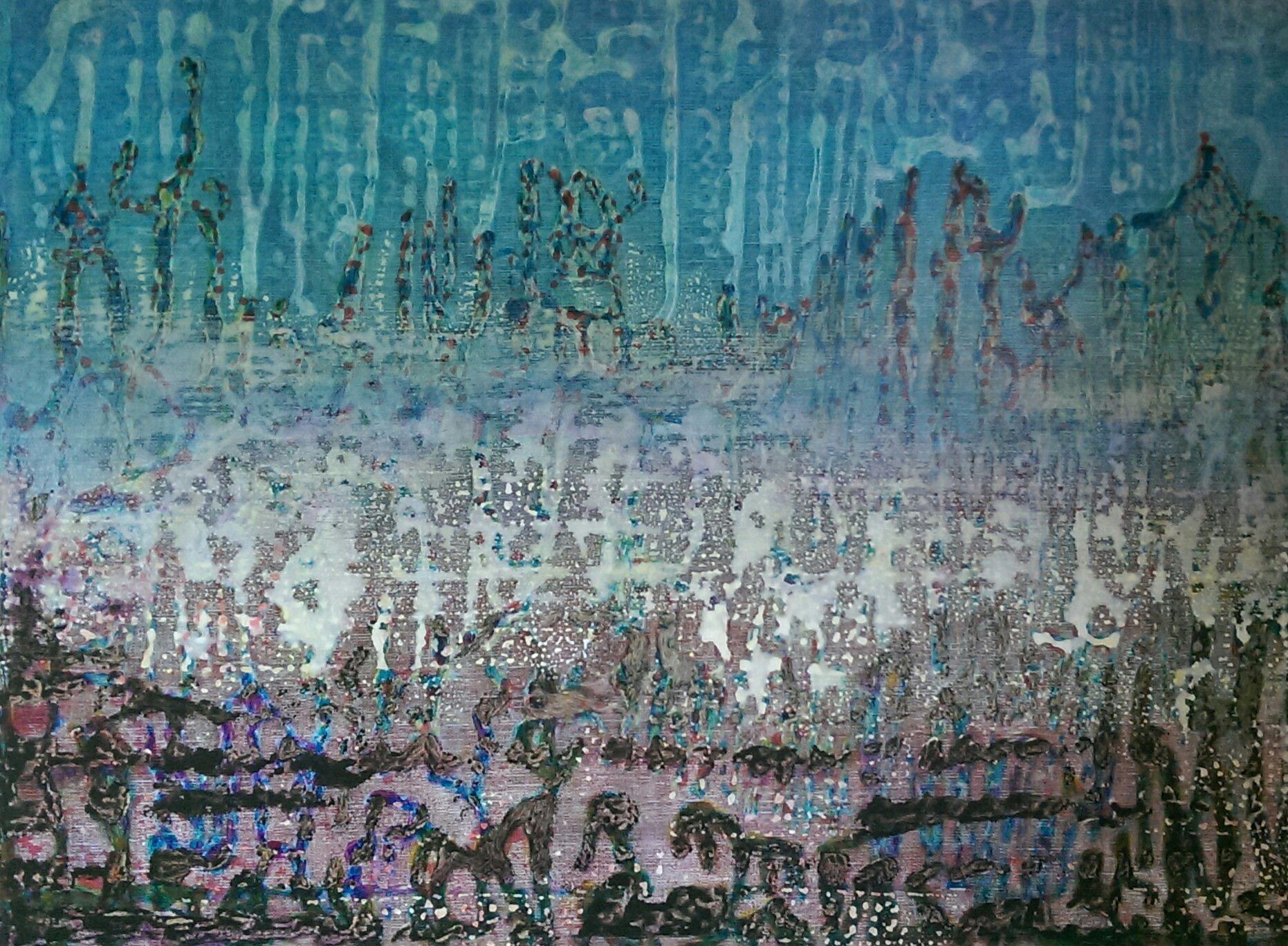 Am Ufer ,Öl/Acryl a.LW, H60xB80, 2010