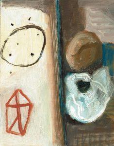 Ohne Titel, Öl a. Papier, 18 x 13,5 cm, um 2001